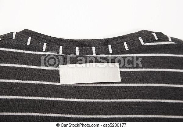 Camiseta, etiqueta - csp5200177