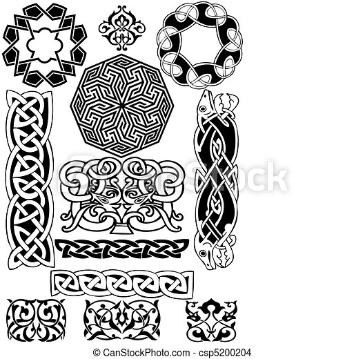 Celtic vector art-collection. - csp5200204