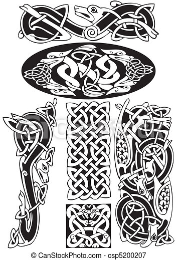 Celtic vector art-collection. - csp5200207