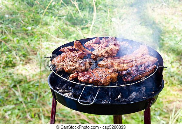 rib-eye on the grill - csp5200333