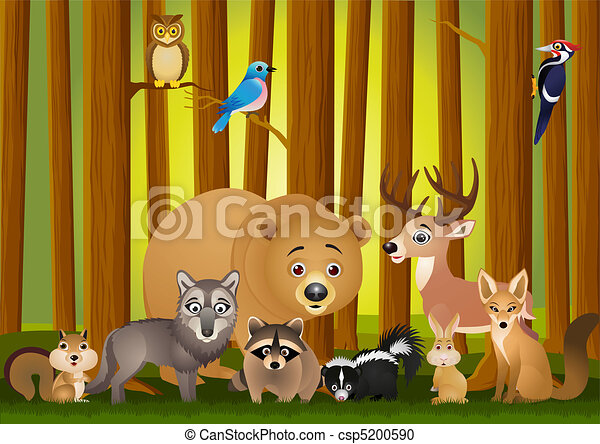 vector illustration of animal carto - csp5200590