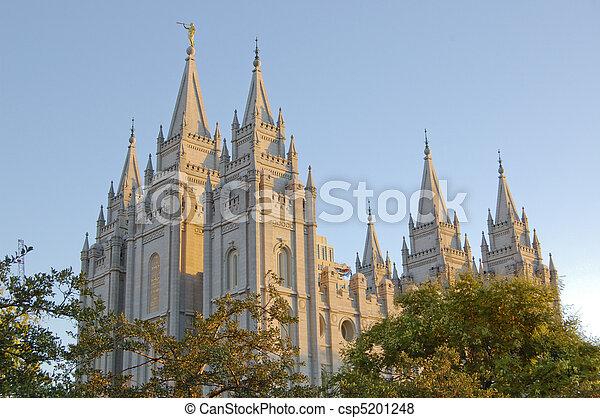 Mormon Temple in Salt Lake City Utah - csp5201248