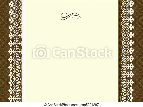 Vector Ornamental Frame With Thin Border - csp5201297
