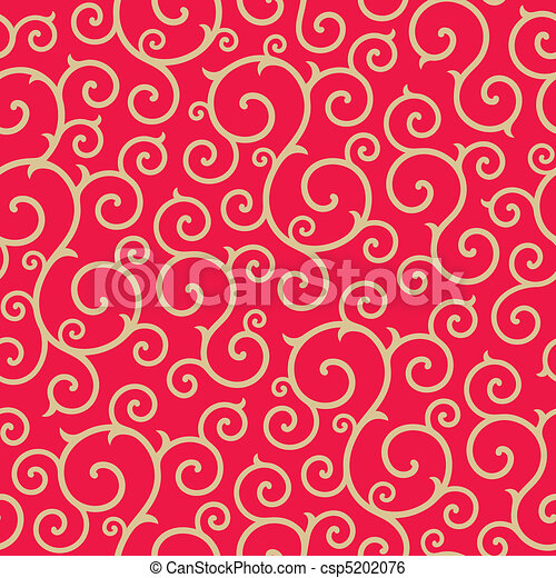 Curly seamless pattern - csp5202076