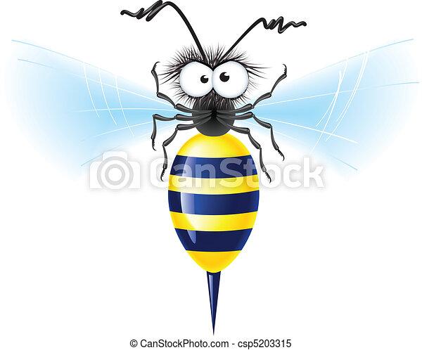 Cheerful bee - csp5203315