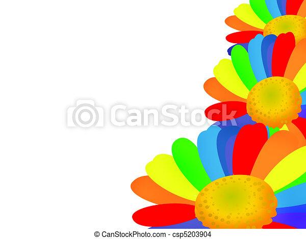 Rainbow flower - csp5203904