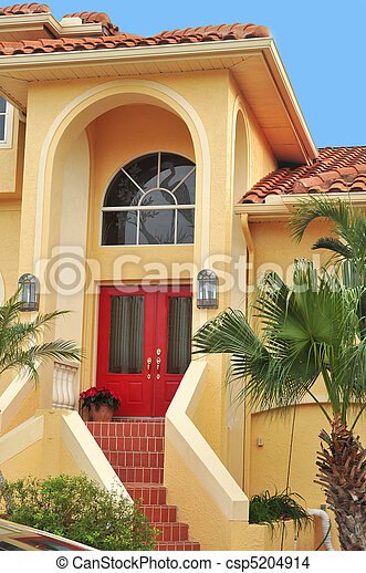 Three story home in the Tropics - csp5204914