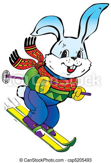 Hare skiing. - csp5205493