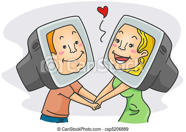 Online Romance - csp5206889