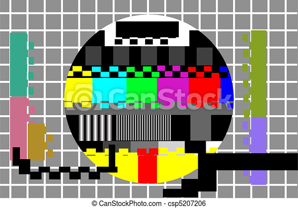 television color test pattern - csp5207206