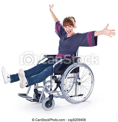 girl on wheelchair - csp5209406