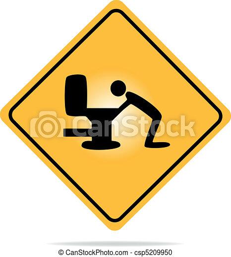 Warning, hangover sign - csp5209950