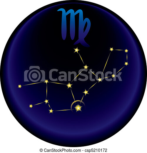 Zodiac Virgo Sign	 - csp5210172