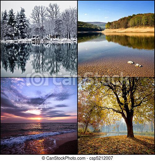 Four seasons collage - csp5212007