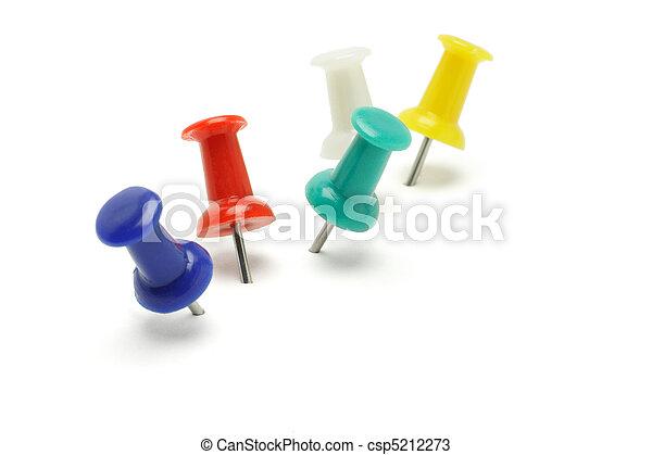 Colorful push pins - csp5212273