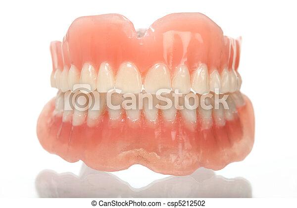 full set of acrylic denture - csp5212502