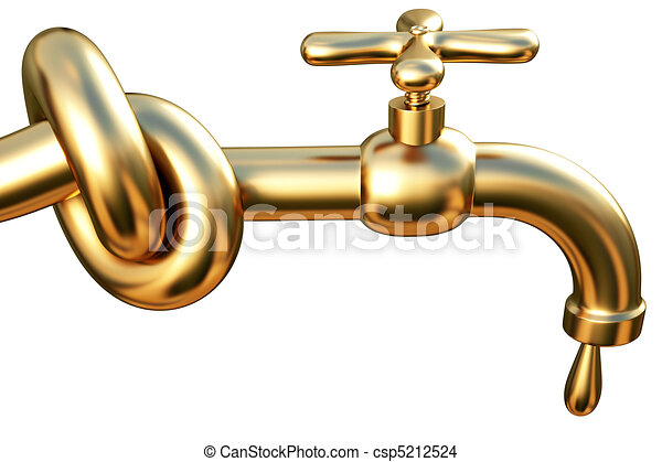 dessin de robinet attach dans a noeud dor robinet a goutte csp5212524. Black Bedroom Furniture Sets. Home Design Ideas