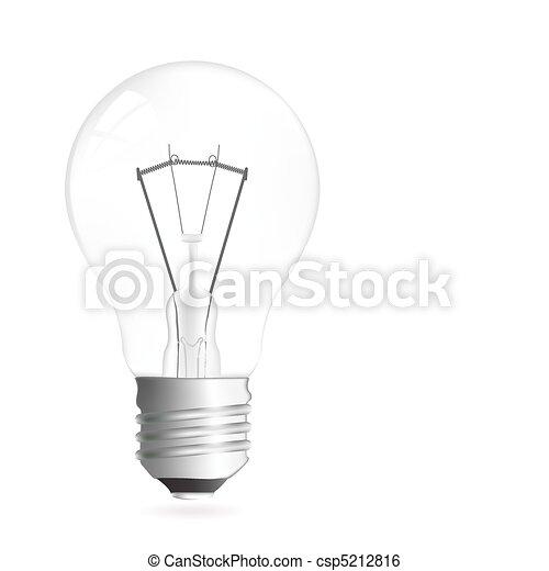 Light bulb illustration - csp5212816