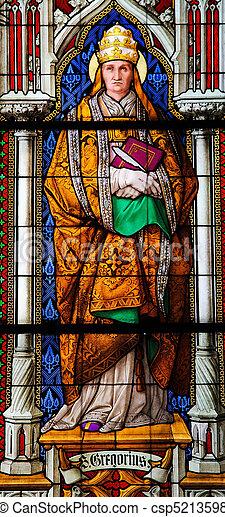 Pope Gregorius the Great - csp5213598