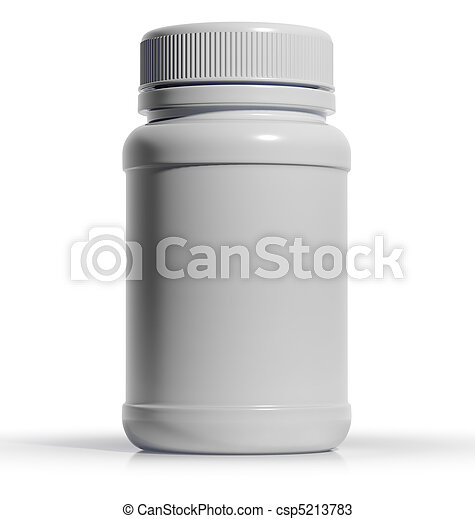 White plastic medical bottle - csp5213783
