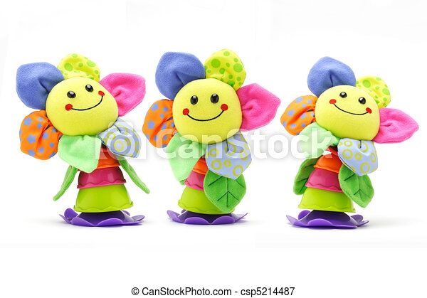Sunflower smiley face dolls - csp5214487