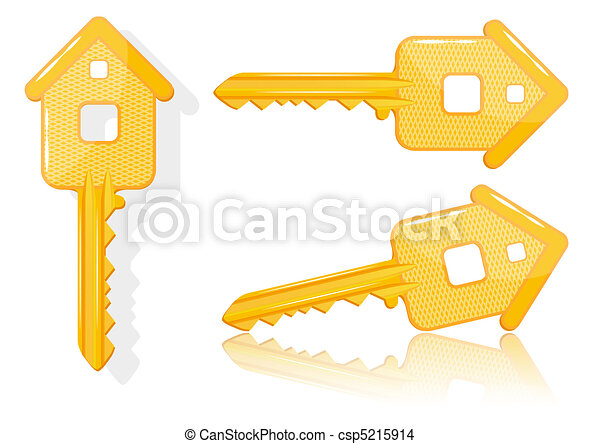 Real estate concept with house key - vector - csp5215914