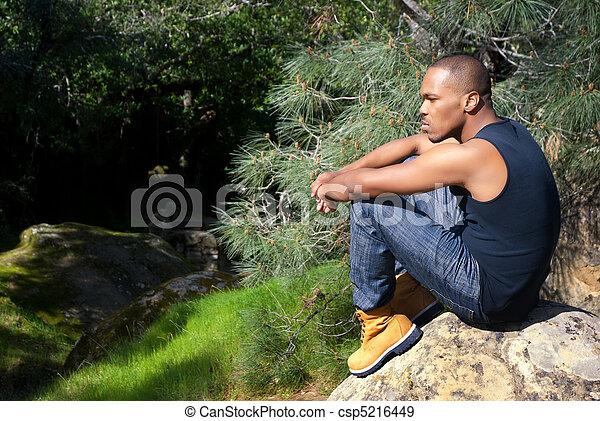 Contemplation in Nature - csp5216449