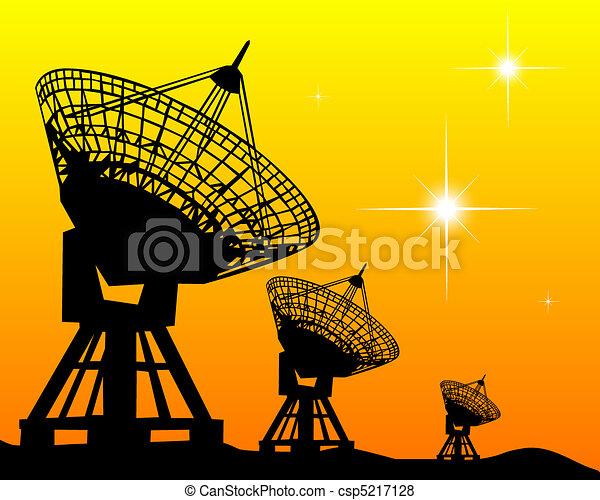 Black silhouettes of radars - csp5217128