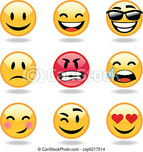Set of nine smileys - csp5217514