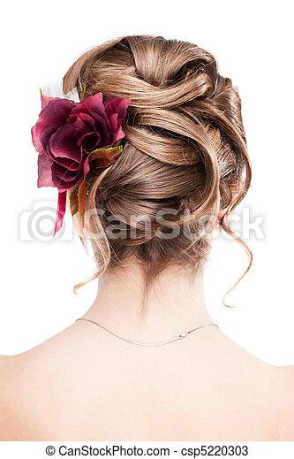 Modern wedding hairstyle - csp5220303