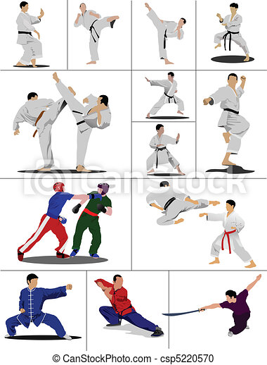 Wushu. KungFu.The sportsman in a p - csp5220570