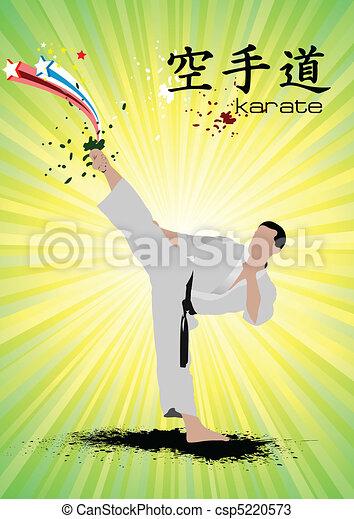 Oriental combat sports. Poster of  - csp5220573
