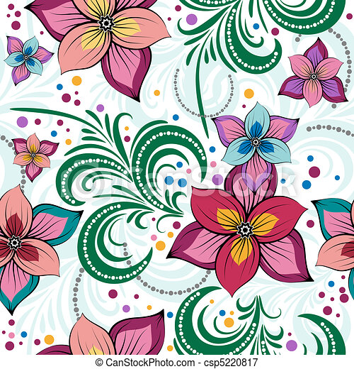 Floral vivid seamless pattern - csp5220817