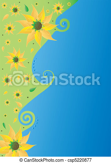 Flowers postcard - csp5220877