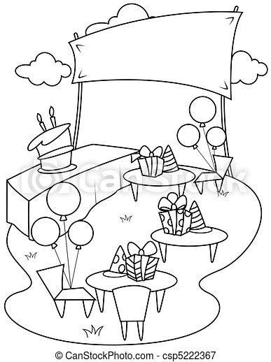 Line Art Garden Party 5222367