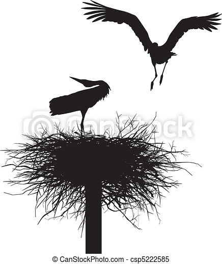 Storks in the nest - csp5222585