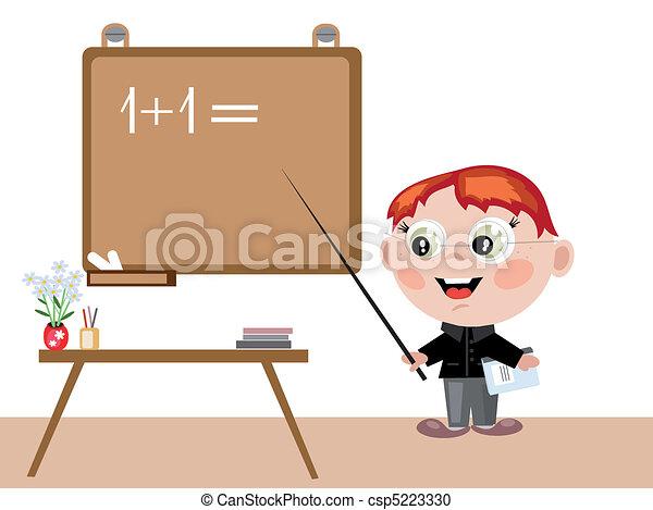 Boy teacher - csp5223330