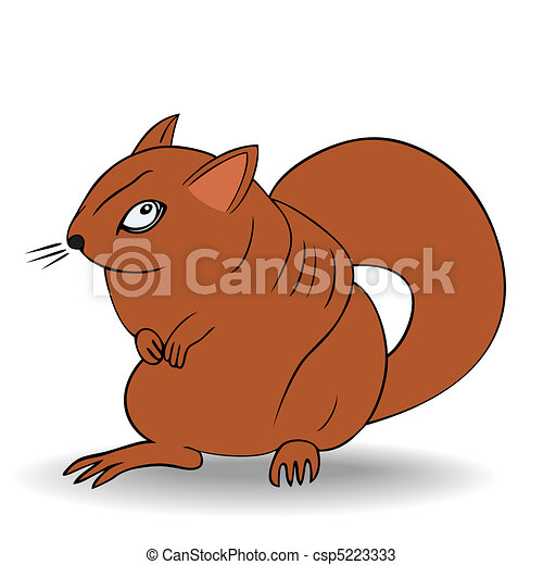 angry squirrel - vector - csp5223333