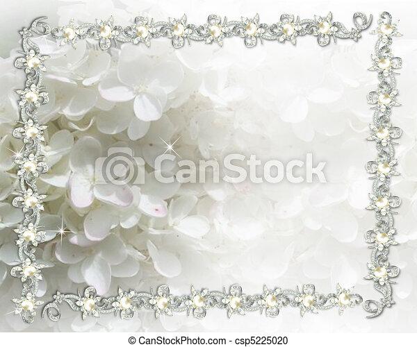 Wedding invitation jeweled - csp5225020