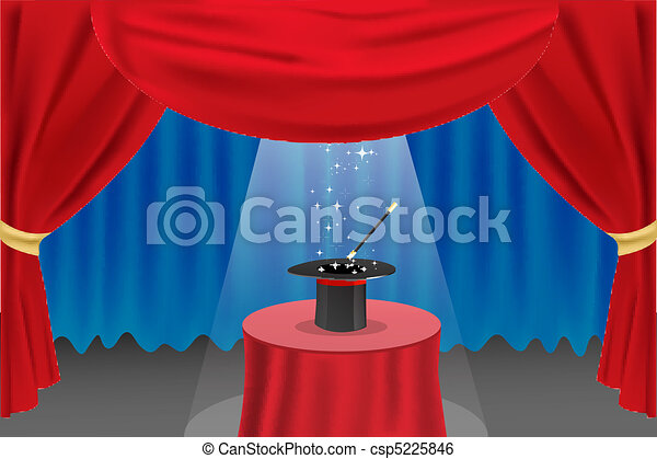 magic show on stage - csp5225846