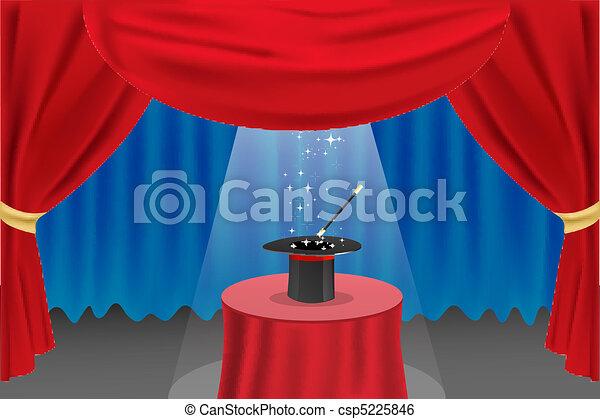 magic show on stage - csp5225846