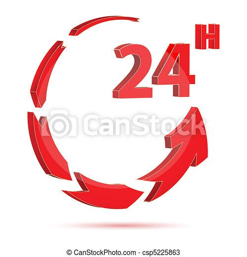24 hour icon - csp5225863