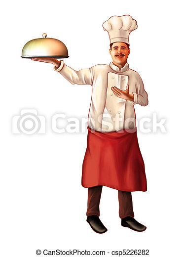Smiling chef - csp5226282