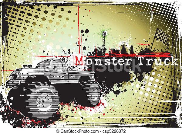 dirty monster truck - csp5226372