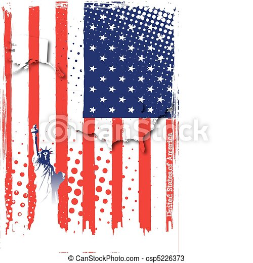 poster of america - csp5226373