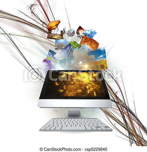 流, 電腦 - csp5229840