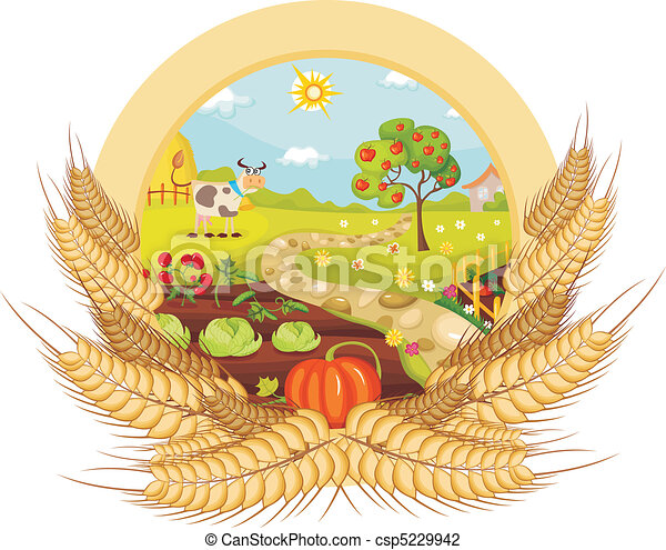 Illustrazioni vettoriali di fattoria scheda vettore for Piani di fattoria stonegate