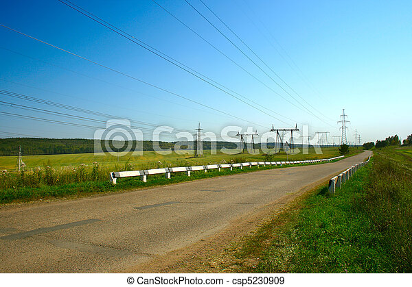 Summer landscape with rural road - csp5230909