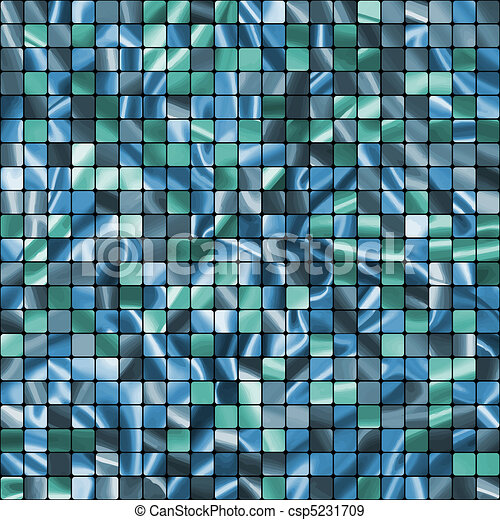 Seamless Blue Tiles swatch ready pattern. EPS 8 - csp5231709