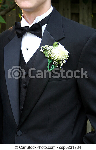 Prom Tux & Boutonniere - csp5231734